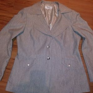 Emily Women's Blazer Sz 16 Built in Shoulder Pads